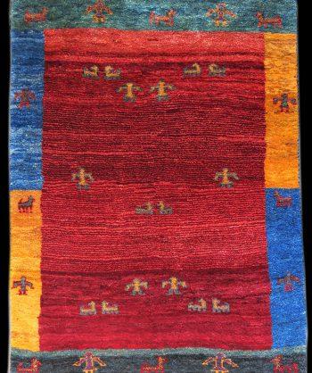 Gabbeh 4'3  X 5'5    rug # 2576