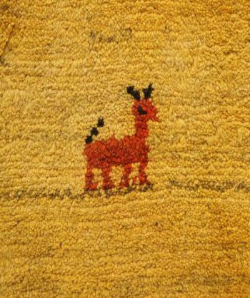 Gabbeh Carpet Hand-Woven Antique 18-048