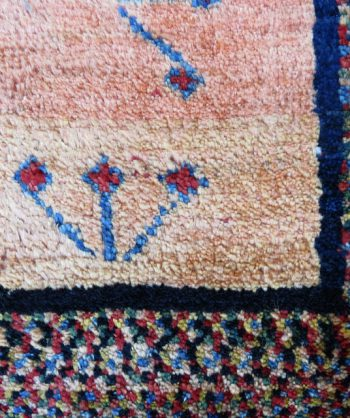 Antique Gabbeh Carpet Handmade 4541