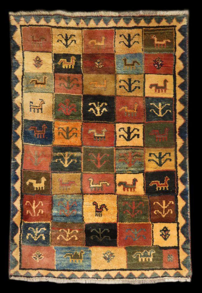 Gabbeh-Nomadic-wool-handmade-rug