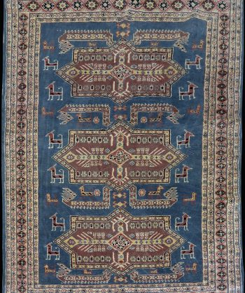 Antique Kazak Rug #4419