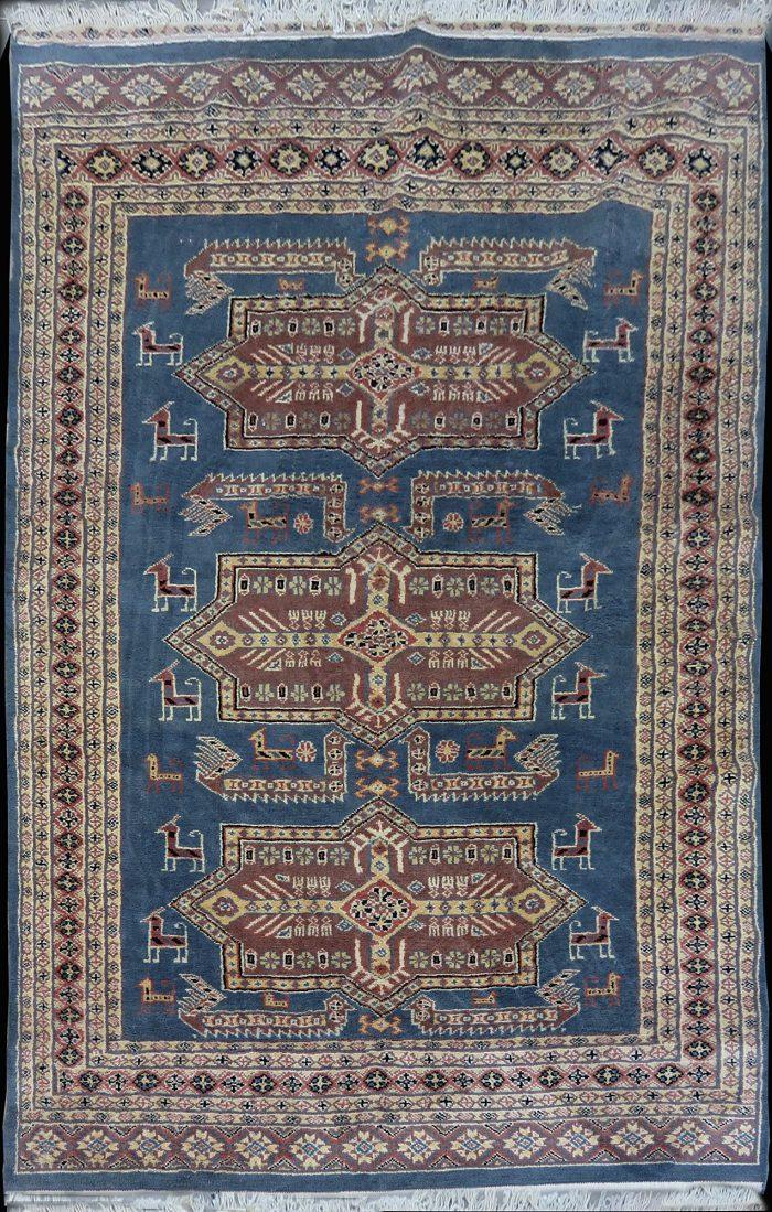 Kazak wool carpet antique