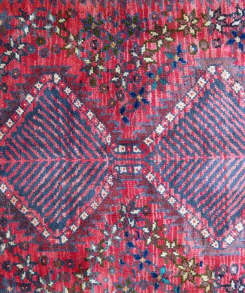 Persian Shiraz Rug #4497            Size:  5'1″ X 6'11""