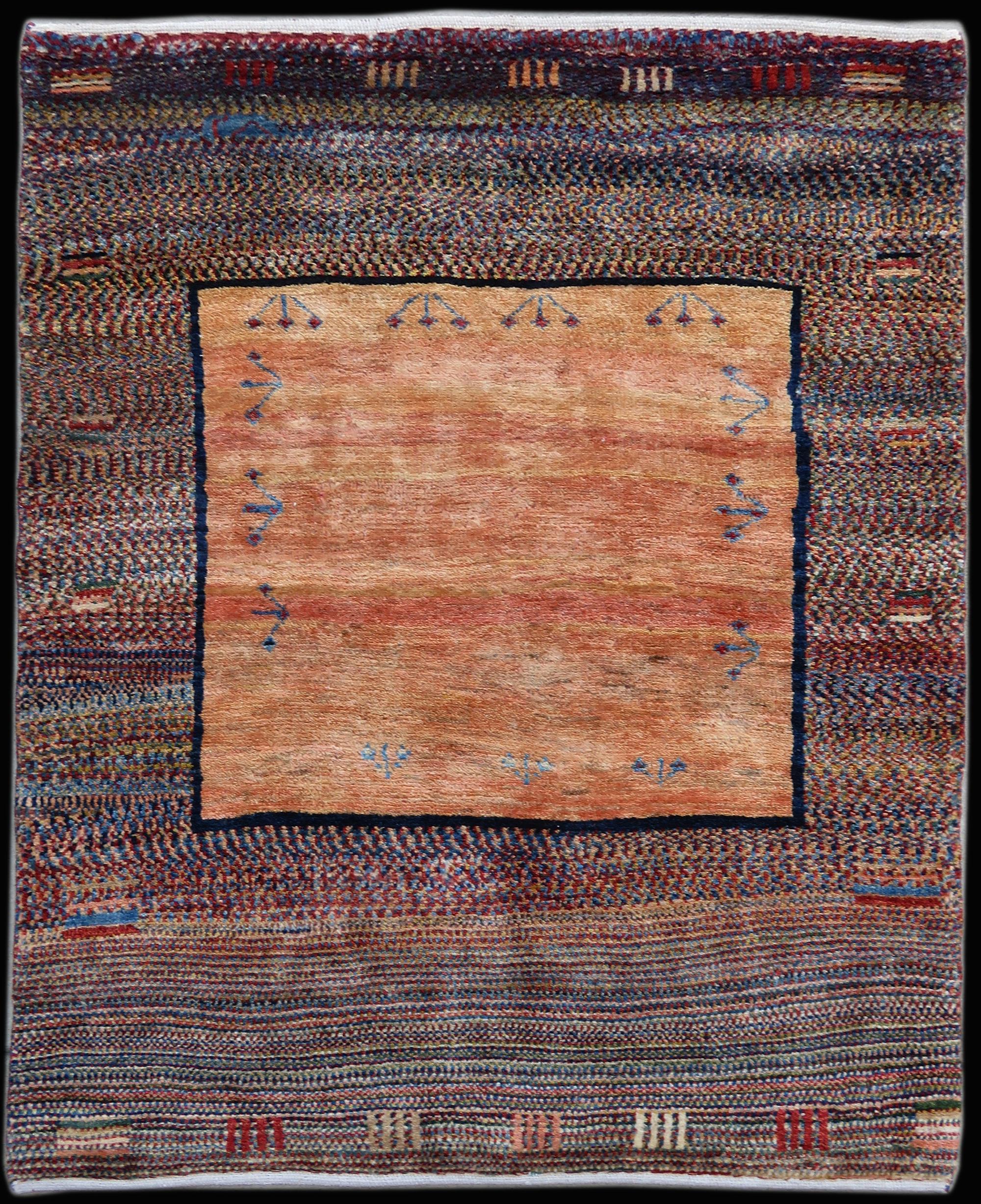 Antique Persian Gabbeh Carpet