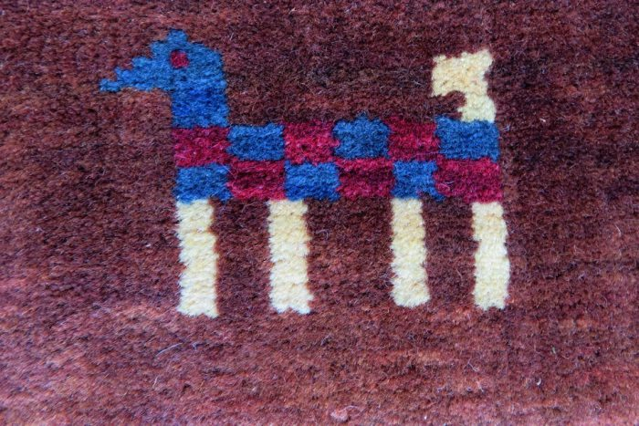 hand knoted gabbeh carpet for sale