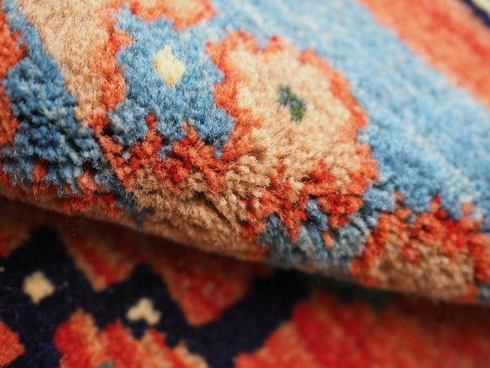 Antique Carpet beautiful natural dyes thick!