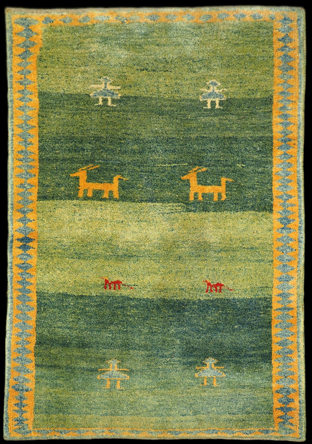 Gabbeh Carpet 18 086 Antique