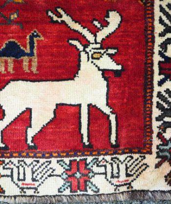Qashqai Lion Hunting Rug  18-088