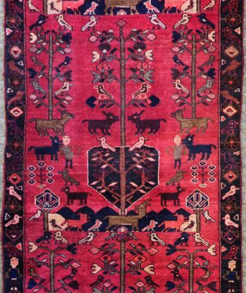 Hunting Ghom Tree of Life Rug