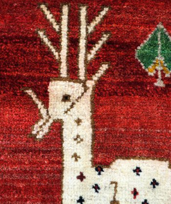 Antique Qashqai Hunting Rug