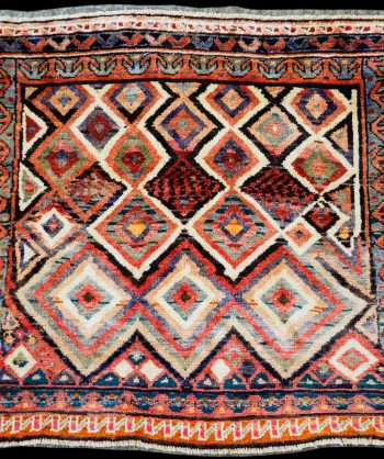 1930 Antique Kazak Serapi Heriz Rug