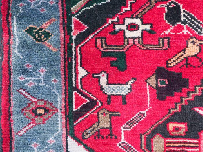 Antique Persian Wool Tribal Carpet