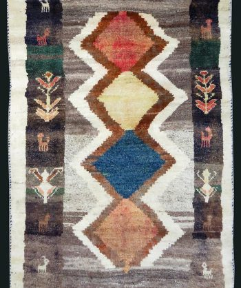 Tribal Gabbeh wool rug