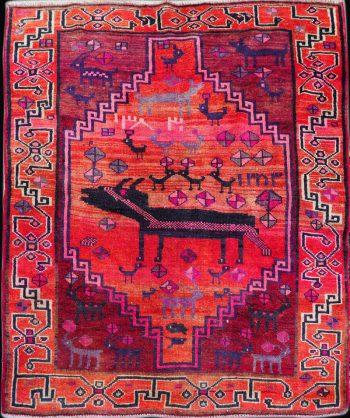 Antique Serapi Heriz Carpet #19-031