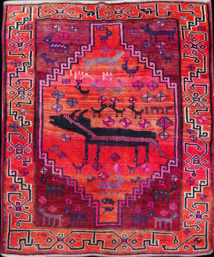 Antique Serapi Heriz Carpet