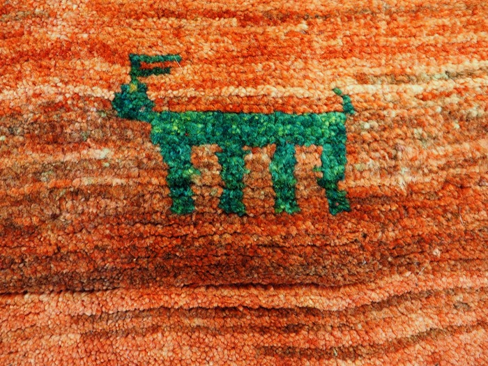 Gabbeh Tribal rug hand-woven from wool