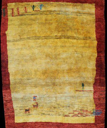 Thick Wool Gabbeh Tribal Rug