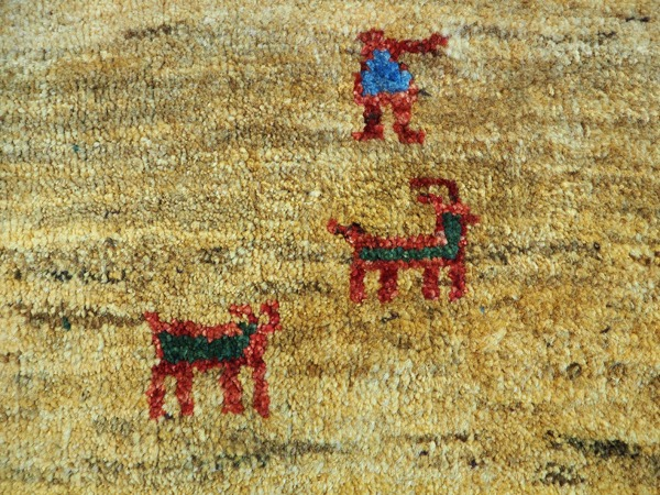 Thick Wool Gabbeh Tribal Rug