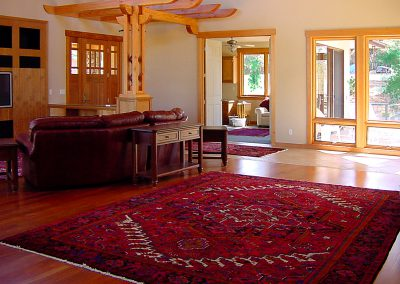 large handwoven Persian carpet