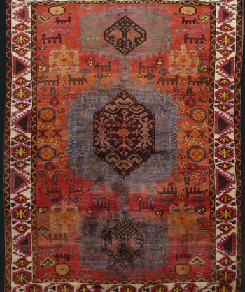 Antique Persian Qashqai Serapi Rug