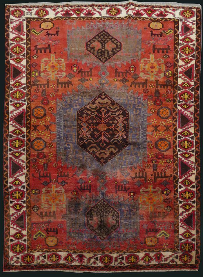 Antique Persian Qashqai Serapi Rug