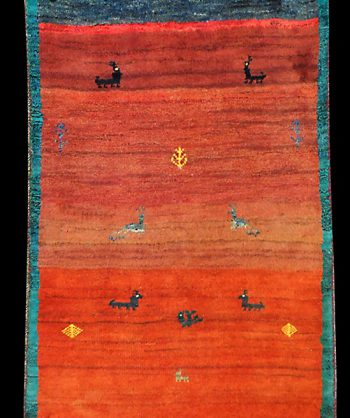 Thick Gabbeh Area Rug