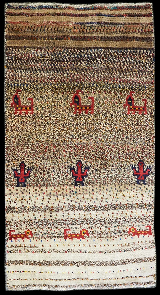 Thick Gabbeh Tribal Wool Rug