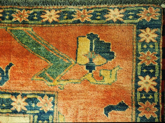 Hand-Woven-Hand-Spun-Wool Tribal-Rug