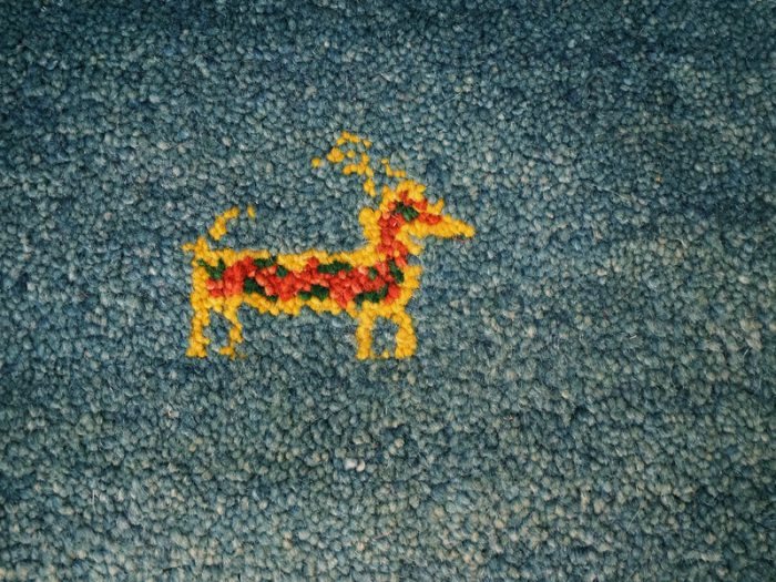 Hand-Woven Gabbeh Wool Rug