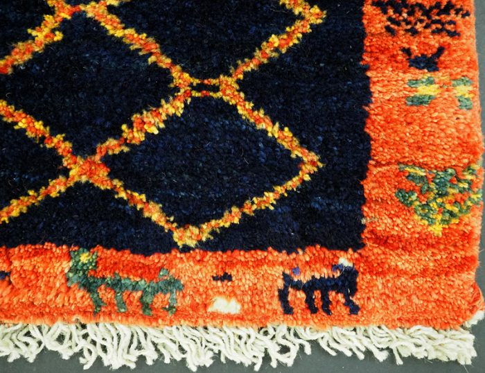 Thick Wool hand-knotted Gabbeh Tribal Rug