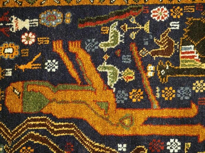 Herati Persian hand-woven rug