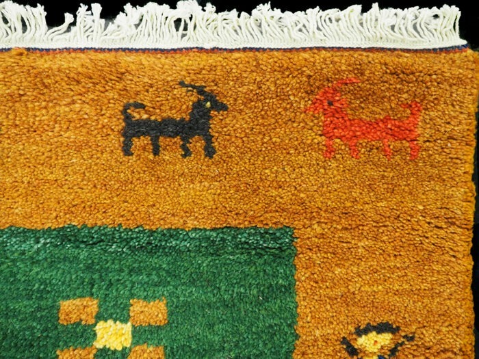 Hand-woven and dyed rug from India