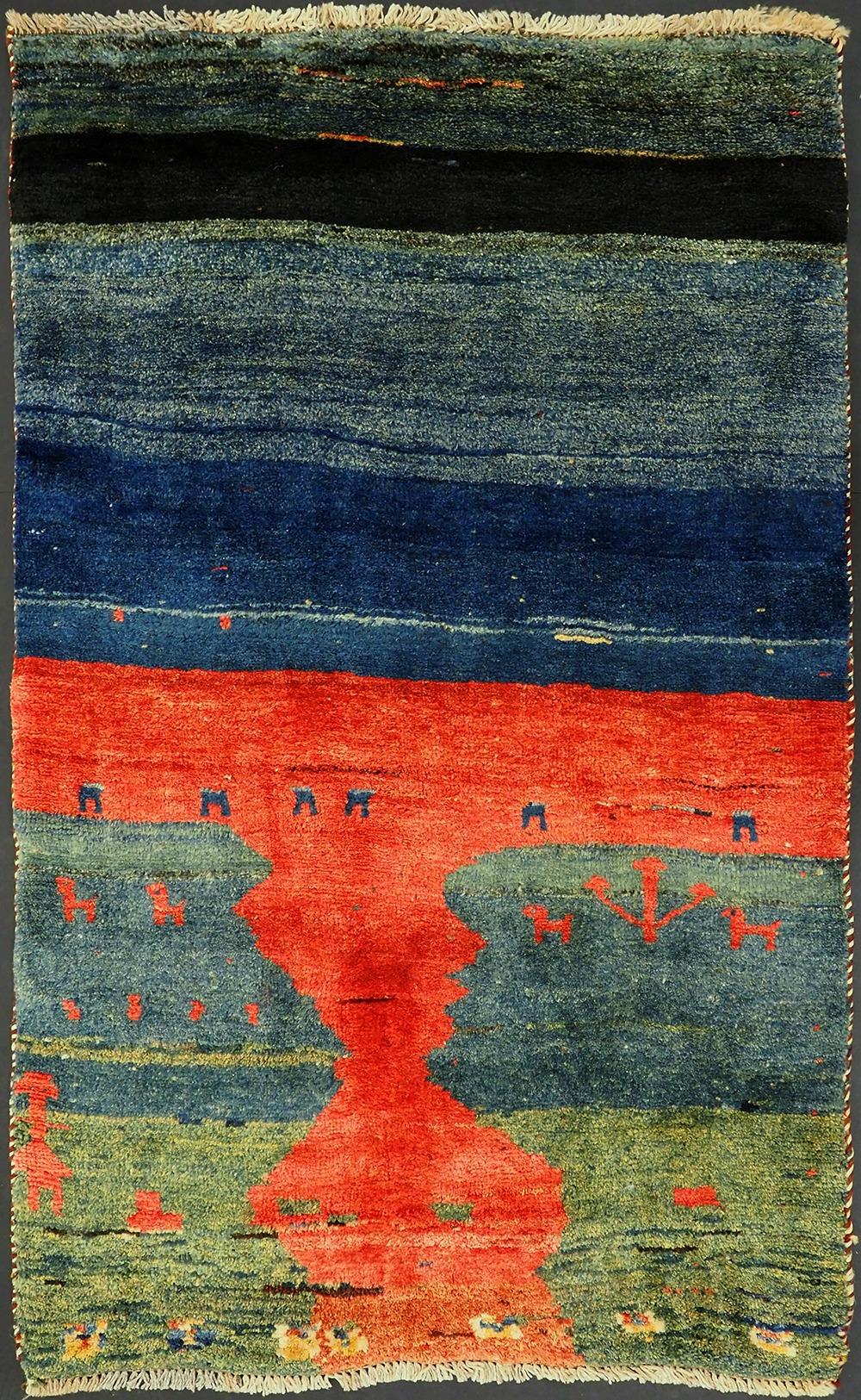 hand-woven Gabbeh Tribal rug