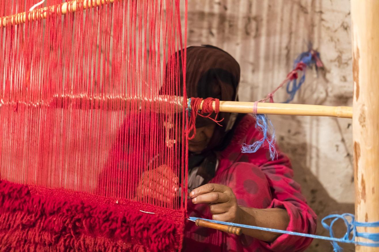 Traditional Gabbeh Carpet Weaver