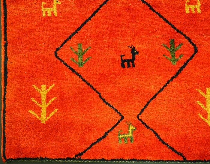 Hand-knotted Gabbeh runner area rug