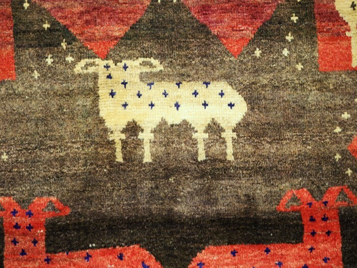 Hand-knotted Persian Gabbeh Tribal Rug