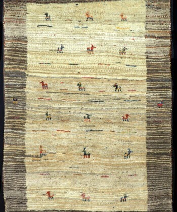 Natural wool Gabbeh rug