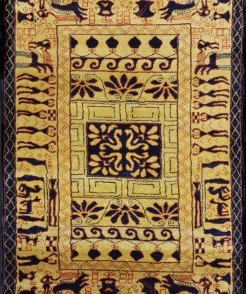 Pictorial Gabbeh wool rug
